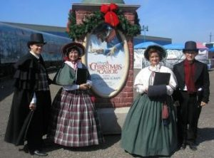 carolers-at-disney-train